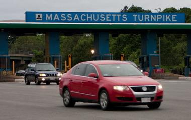 Tolls are set to resume on the Western Massachusetts stretch of the Mass. Turnpike between Springfield and West Stockbridge, starting this fall. (Pictured: Weston tolls, 2011.)