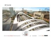 A rendering of the completed commuter rail canopy, Train Hall Canopy.
