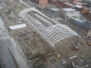 An aerial photo of Train Hall Canopy.