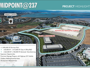 """The entire Midpoint@237 project includes two components: An """"advanced manufacturing"""" campus and a Class A office/R&D project along Nortech. The industrial portion is being retained by Trammell Crow and Principal."""