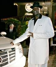 Former NBA Orlando Magic player and superstar Shaquille O'Neal.
