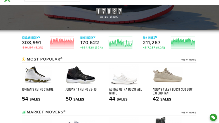7375bae938a9a Detroit group launches a stock market for sneakers - Portland ...
