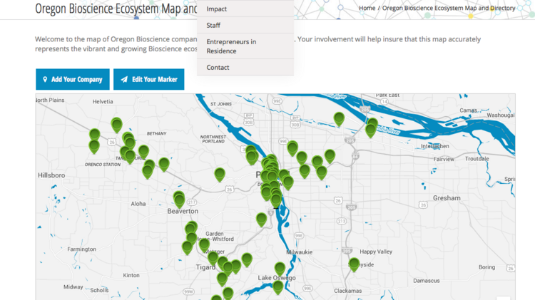 New Interactive Map Shows Bioscience Companies In Oregon Portland