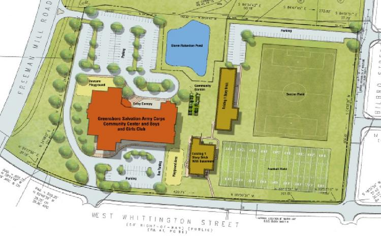 A site map for the planned Boys & Girls Club at the site of the former J.C. Price School in Greensboro.