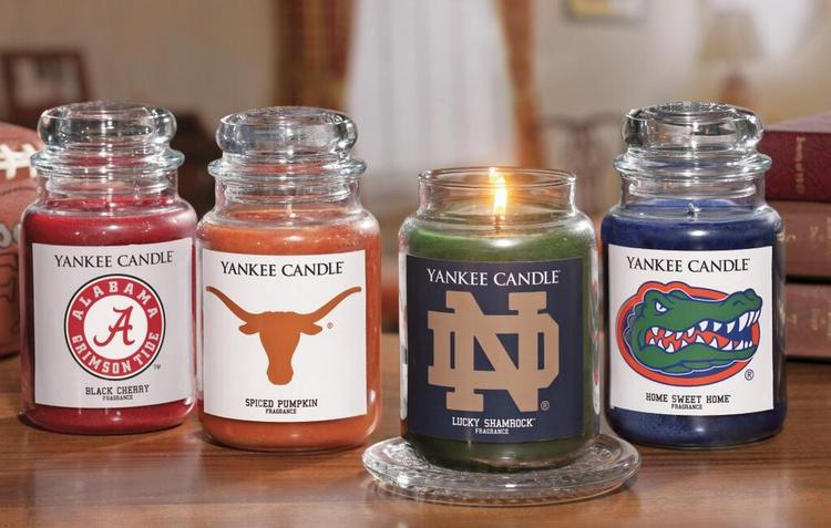 Yankee Candles new collegiate line. Boston College got a 'black cherry' flavored candle. UMass Amherst will get a scent called 'Midsummer's Night.'