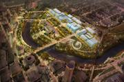 A conceptual view of the plan shows the extent of the hoped-for development on the Scioto Peninsula.