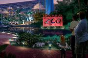A night view of the Columbus Zoo attraction, which would include an aquarium, rain forest exhibit and space for interaction with wildlife.