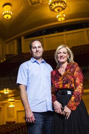 VML's Brent Scholz (left), group creative director, and Debbi Vandeven, chief creative officer, helped develop the new Center Screen mobile app in collaboration with Kansas City's oldest theater.