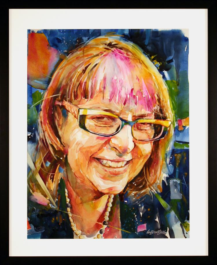 Darling Oldham Neath, best known as D, marks two important D Days this month -- her 50th birthday and the 30th anniversary of her iconic art gallery and art shop, Archival Framing. This is a portrait of her by David Lobenberg.