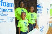 Greater Birmingham Habitat for Humanity Nonprofit category  10-word philosophy on community service: Putting God's love into action -  build homes, communities and hope.  Click here to read their profile   Caption: Greater Birmingham Habitat for Humanity uses volunteers to build homes for needy families.
