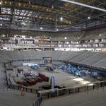 Arena construction turns to locker rooms and luxury suites