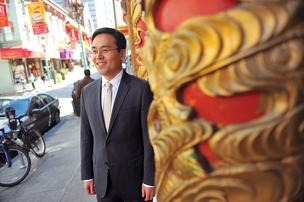 Money talks: Bank of America's Ken Chan in San Francisco's Chinatown.