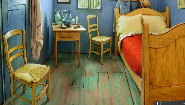 art institute of chicago uses airbnb to promote van gogh