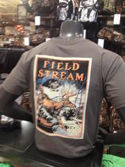 Field & Stream clothing on display at the new store.