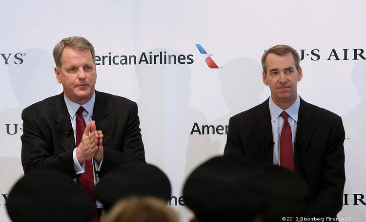 Doug Parker, chief executive officer of US Airways Group Inc. and the man set to take over a merged American-US Airways company, left, vows to fight the Justice Department. But Tom Horton, president and chief executive officer of AMR Corp.'s American Airlines, is being much more quiet about it.