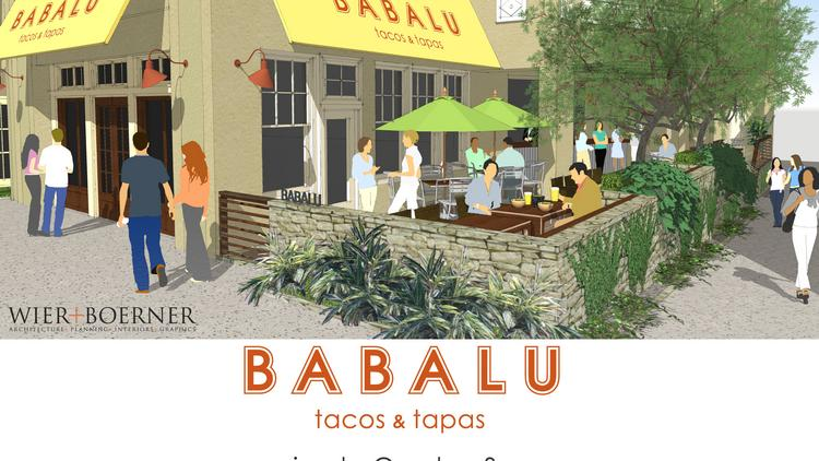 A rendering of the new Babalu location in Overton Square.