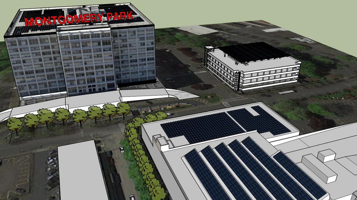 How montgomery park will generate 1m kilowatt hours of for Solar energy portland