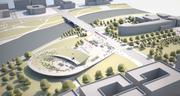 The vision for a new Veterans Memorial includes an amphitheater and veterans education and event center.