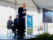 Kitson & Partners Chairman and CEO Syd Kitson, the developer of the future Babcock Ranch community, at Florida Power & Light's ground-breaking event at the future site of the company's Manatee Solar Energy Center in Parrish.