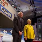 Clinton-Sanders debate hits Obamacare, <strong>Wall</strong> Street and even Henry Kissinger