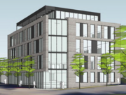 The five-story mixed-use development is proposed for 1721 W. Lake St. in Minneapolis.