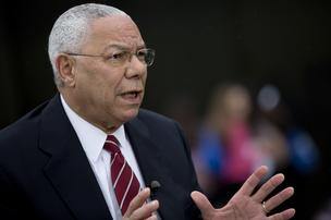 Colin Powell, former U.S. secretary of state, gave the keynote speech at the Prostate Cancer Survivors Celebration Breakfast on Thursday in Seattle.
