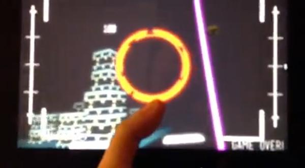 Albuquerque game developer Sean McCracken has created what he believes is the first 3-D game for Google Glass. Pictured is a screen capture from a YouTube video McCracken created showing the game concept on a Kindle Fire.