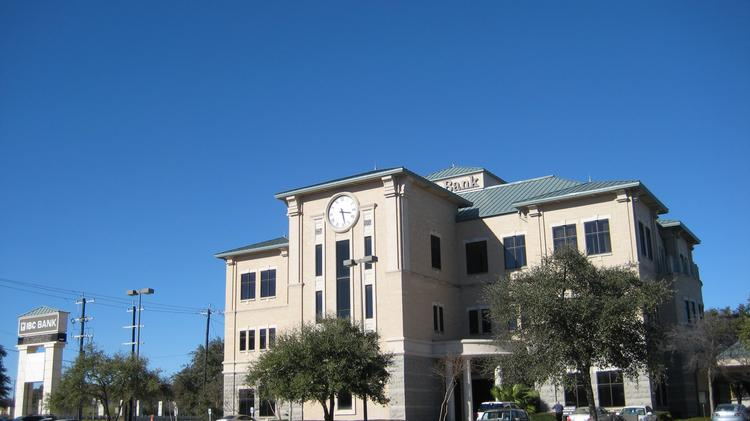 File photo of the IBC Bank building at 12400 San Pedro Ave. The parent company of IBC Bank reported higher net income during the first quarter thanks to growth in net interest.