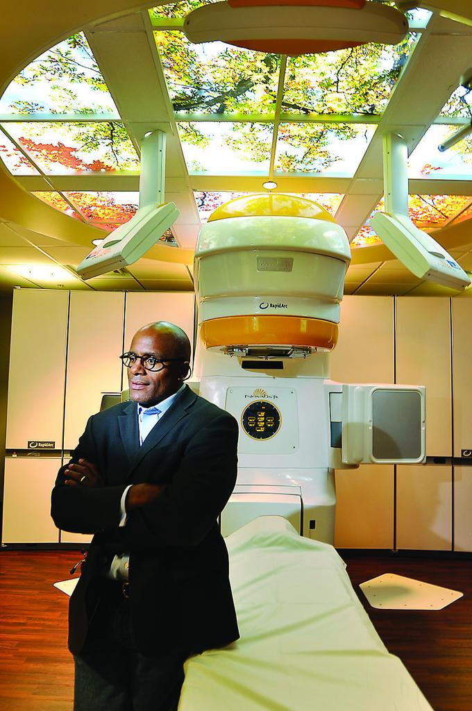 Dr. Charles Leonard, a radiation oncologist, at the Rocky Mountain Cancer Centers at St. Anthony Hospital.  St. Anthony Hospital entered into a contract with the centers to provide all of its medical oncology and radiation oncology.