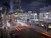 The public plaza planed at Miami Worldcenter.