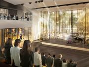 Pedestrians on Mercer Street will be able to see rehearsals and other events going on inside the proposed Seattle Opera at the Center facility. The new building also will allow the opera to consolidate most operations under one roof.