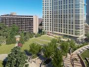 Equity Residential received approval to build a 536,000-square-foot development — about 6,000 square feet smaller than proposed — with 775 underground parking spaces.