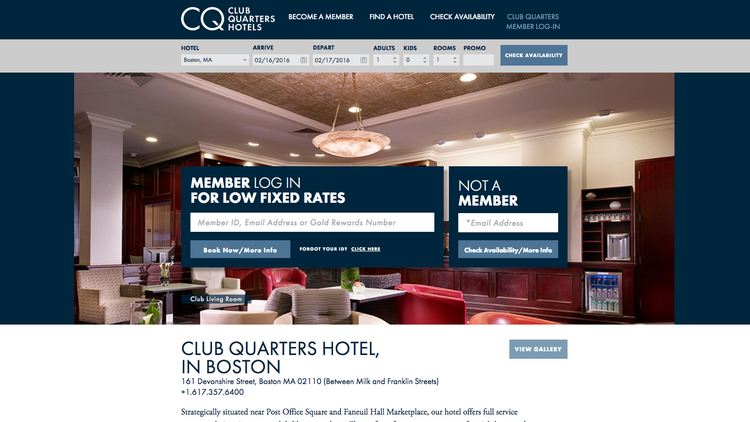 The 178 Room Club Quarters Hotel Is Located At 161 Devonshire St In Boston S