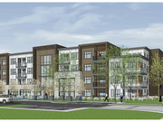 An artist's rendering of the concept for the senior affordable component of Parc 55, which would be developed by Eden Housing.