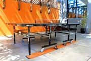BlackArrow's office patio is also equipped with a ping pong table and arcade basketball game.