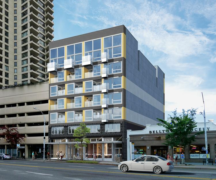 Downtown seattle modular apartment project on the fast for Seattle view apartments