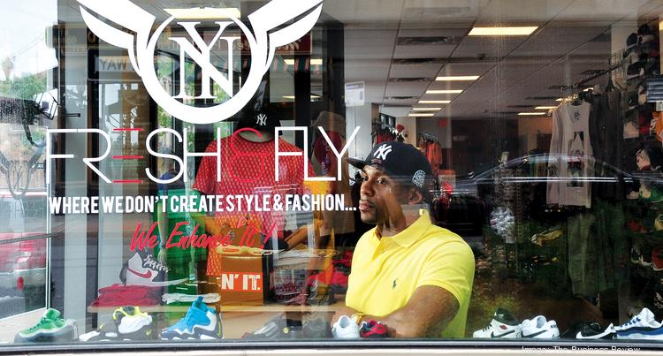 Owner Angelo Maddox at Fresh & Fly in downtown Albany, NY
