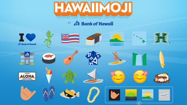 Bank of Hawaii s local emojis for Hawaii features Spam shaka and slippers Pacific Business News