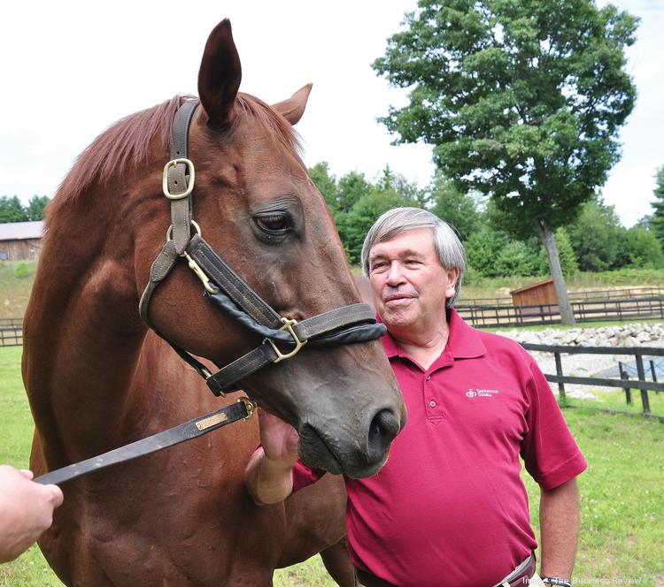 Funny Cide, the only New York-bred horse to win the Kentucky Derby, was in town this month, up from his retirement home on a farm in Kentucky. One of his stops was a fundraiser at Old Friends at Cabin Creek, a farm for retired thoroughbreds in Greenfield Center. Jack Knowlton was also a featured guest at the fundraiser. Knowlton, a Funny Cide owner, is the operating manager of Sackatoga Stable in Saratoga Springs. He was the racing manager for Funny Cide when he made his 2003 bid for the Triple Crown, winning the Derby and the Preakness Stakes.