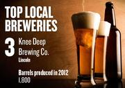 No. 3. Knee Deep Brewing Co., Lincoln, produced 1,800 barrels in 2012. The brewery was established in 2011.