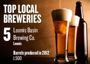 No. 5. Loomis Basin Brewing Co., Loomis, produced 1,500 barrels in  2012. The brewery was established in 2010.