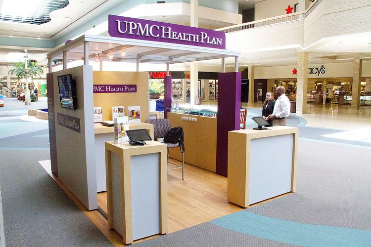 A look at UPMC Health Plan's kiosk in the Century III Mall in West Mifflin, one of several malls in the area which has them.