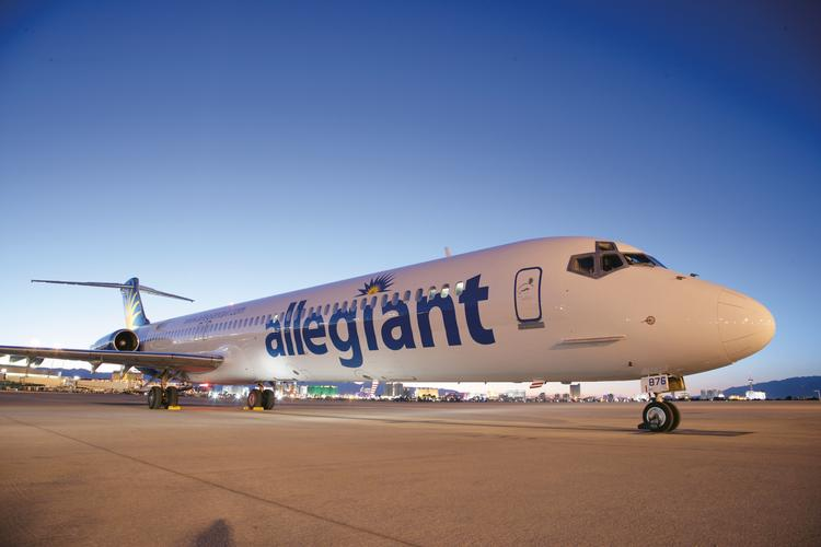 Inspections of the emergency slides on Allegiant Air's MD-80 aircraft are forcing the airline to delay or cancel flights.