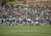 UNC Charlotte's first intrasquad spring game was a near-sellout, with 14,000 fans attending.
