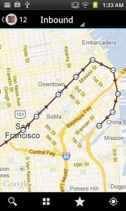 MobileMuni, created by San Francisco startup LuckyBird, lets users look up routes and check arrival times for San Francisco Muni buses and trains.