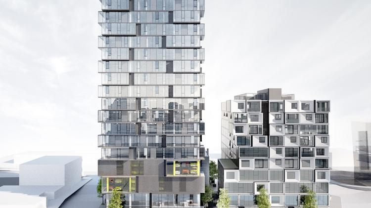 The second phase of Block 75 at the Burnside Bridgehead will be an 18- to 20-story apartment building with up to 106 units and ground floor retail space.