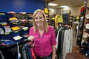 Tina Cooper, owner of River City Workwear is shown here in the showroom.