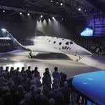 Virgin Galactic unveils space plane in Mojave