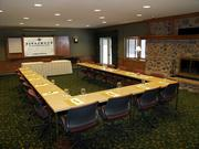 There is about 9,000 square feet of conference center space at the Riverwood