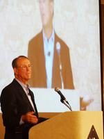 Erskine Bowles makes fiscal responsibility plea at Wyndham Championship breakfast